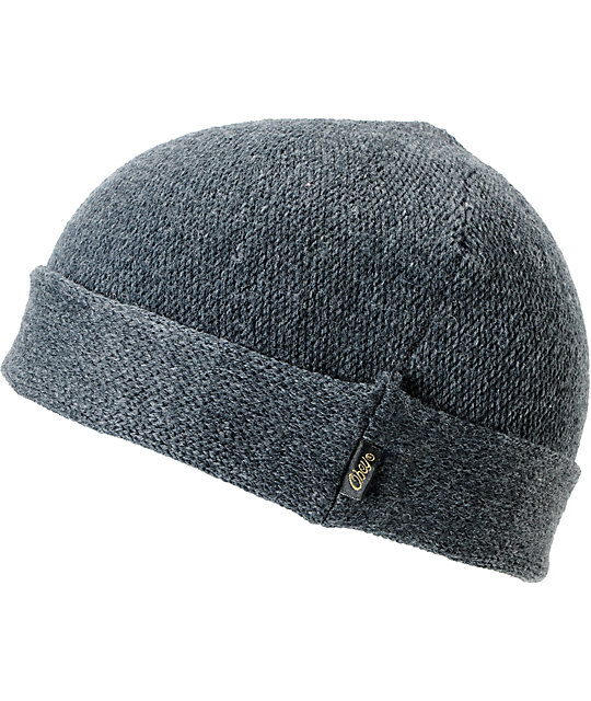 Obey Atlantic Charcoal Grey Beanie