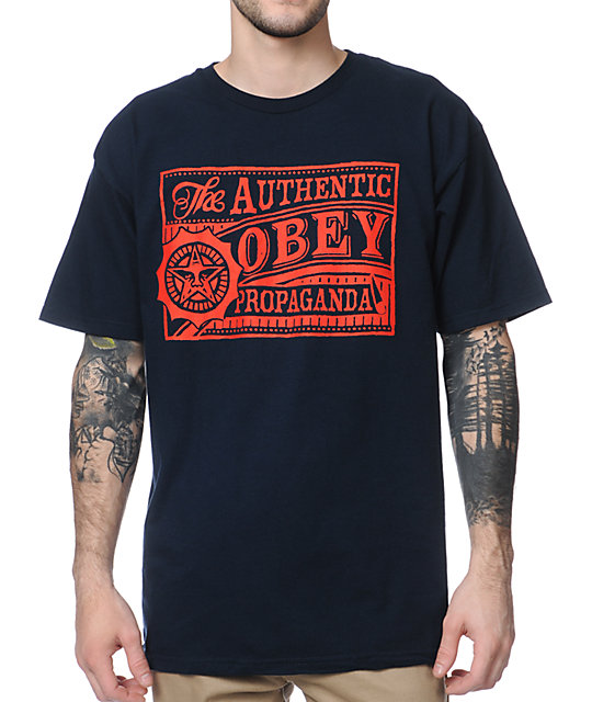 Obey Authentic Navy T-Shirt