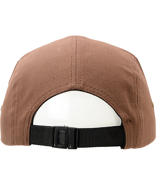 Obey Bend Brown 5 Panel Hat