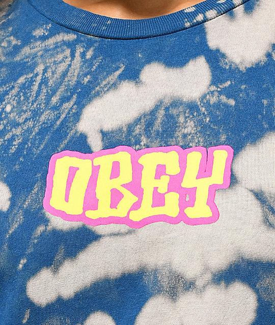 Camiseta Better Obey Days Blanqueada Azul u1TlFKJ3c