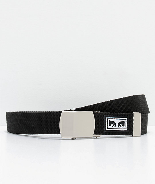 Obey Big Boy Black Web Belt by Obey