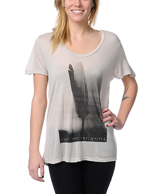 Obey Birds Of A Feather Natural Grey Beau T-Shirt