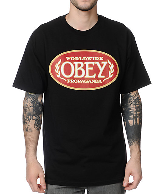 Obey Blunts Black T-Shirt
