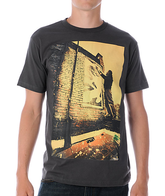 Obey Bombs Away 3 Charcoal T-Shirt