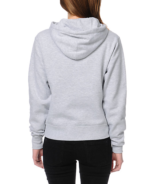 Obey Bone Garden Heather Grey Pullover Hoodie