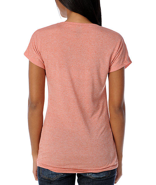 Obey Books Dissent Red Mock Dolman Top