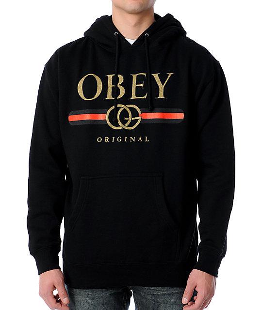 Obey Bootleg Black Pullover Hoodie