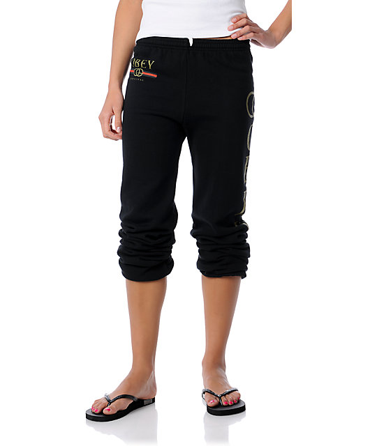 Obey Bootleg Black Sweatpants