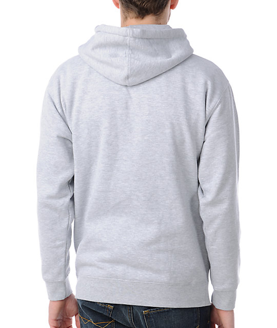 Obey Box Logo Grey Pullover Hoodie