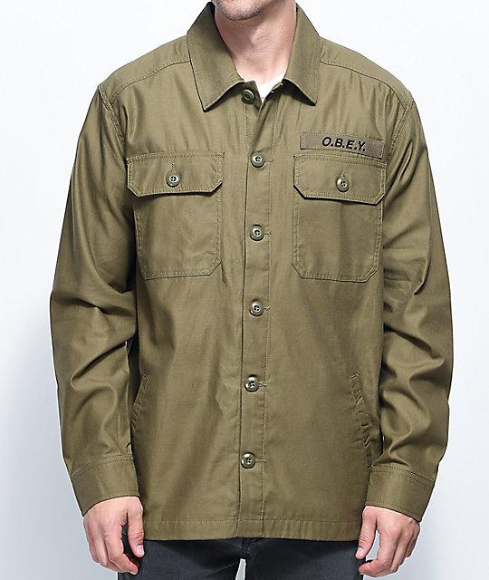 Obey Breakdown Green Army Jacket