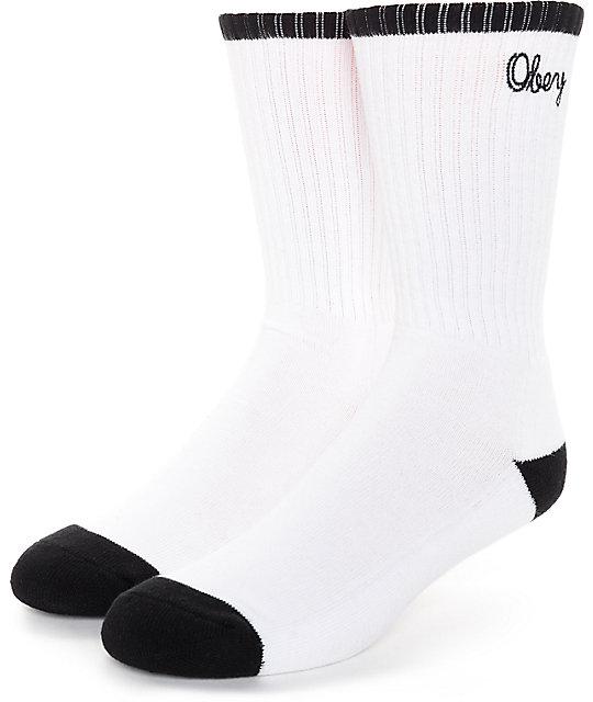 Obey Brooks White & Black Socks