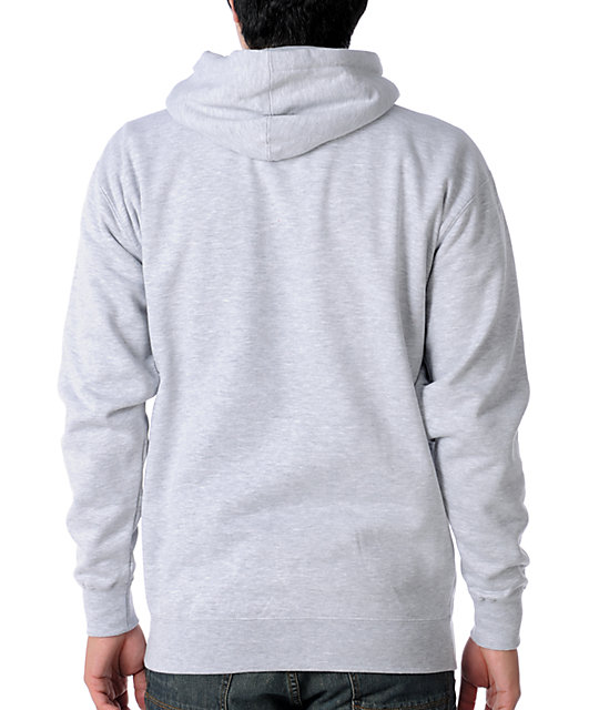 Obey Build Peace Heather Grey Pullover Hoodie
