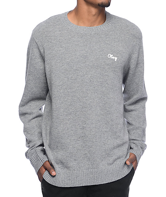 Obey Camden Grey Sweater