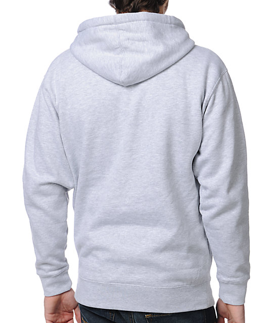 Obey Camo Font Heather Grey Pullover Hoodie