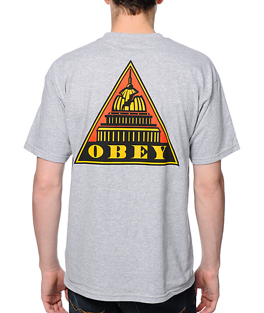 Obey Capitol State Heather Grey T-Shirt