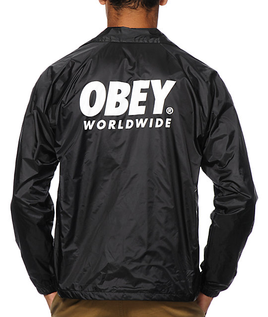 Obey capsule coach jacket for Coach jacket