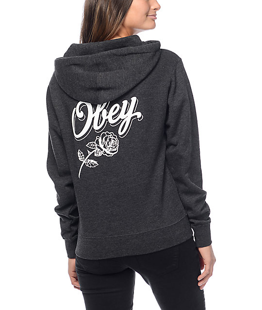 Obey Careless Whispers Charcoal Hoodie