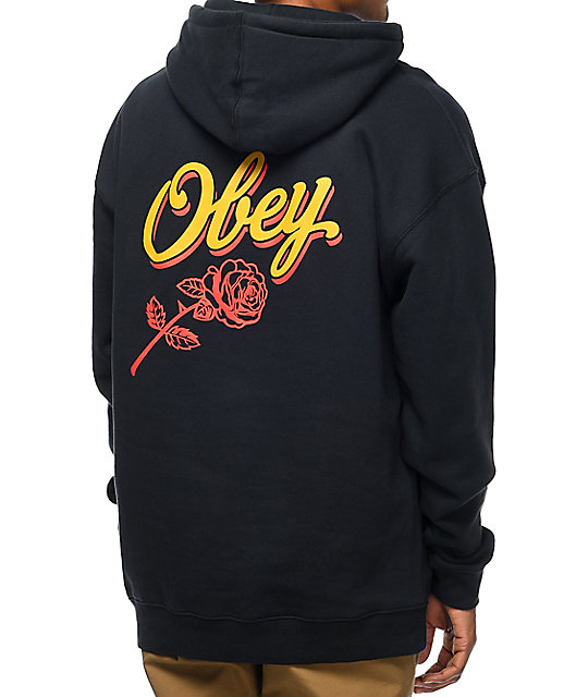 Obey Careless Whispers Navy & Gold Pullover Hoodie
