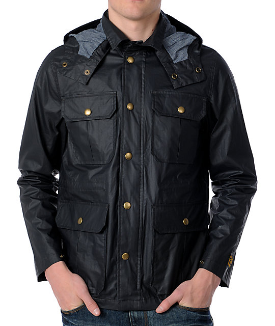 Obey Cascade Black Jacket