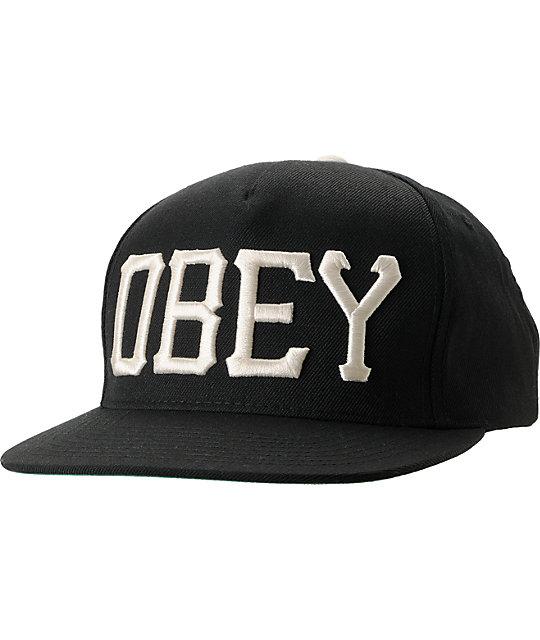 Obey Cedar Black Snapback Hat
