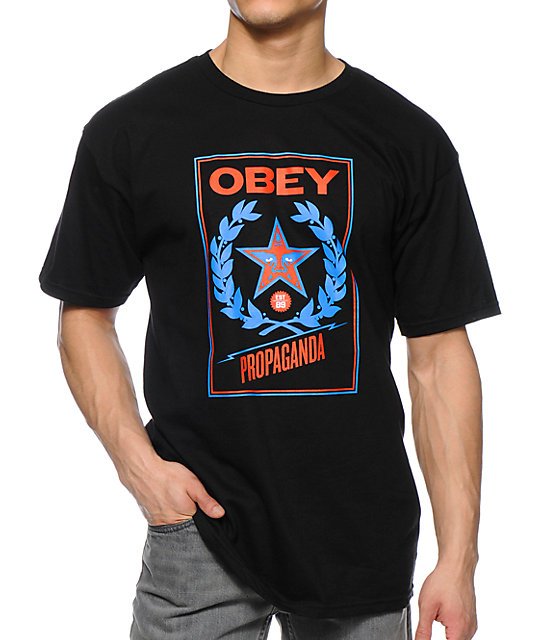 Obey Classic Crest Black T-Shirt