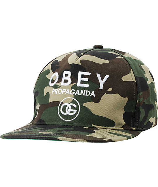 Obey Coco Camo Snapback Hat