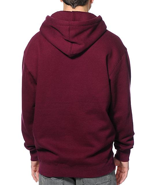 Obey Collegiate Burgundy Pullover Hoodie | Zumiez
