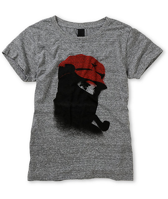 Obey Comandante Heather Grey T-Shirt