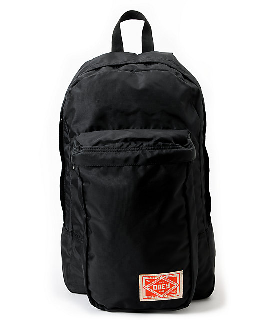 Obey Commuter Black Backpack
