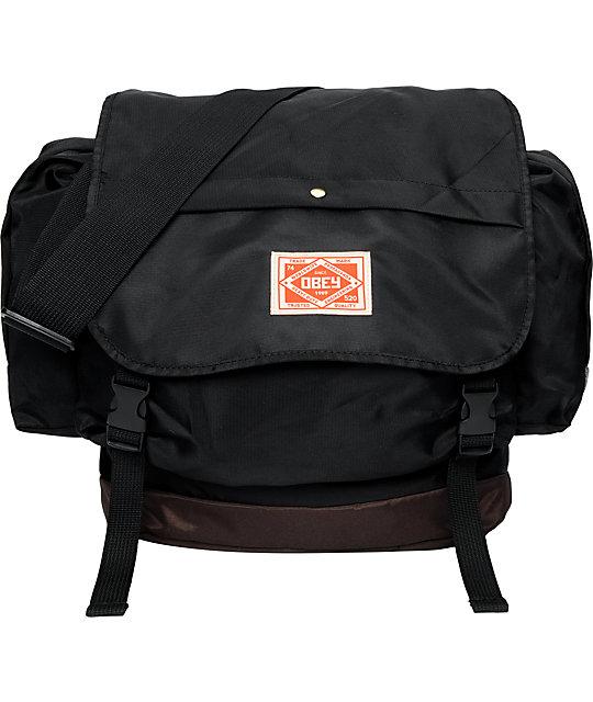 Obey Commuter Messenger Black & Brown Backpack