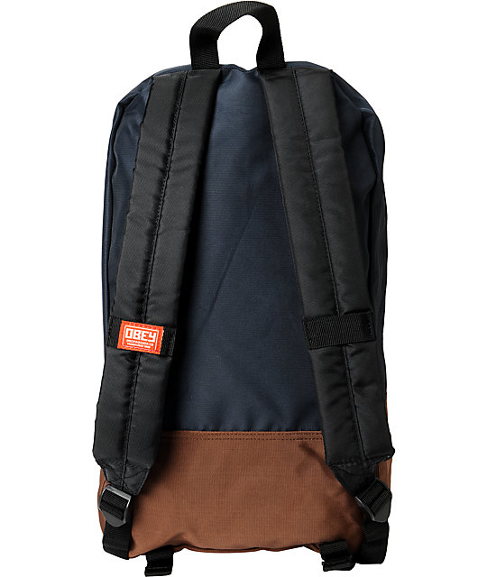 Obey Commuter Navy & Brown Laptop Backpack