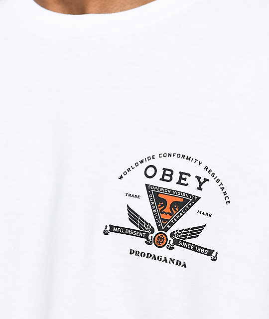 Obey Conformity Resist White T-Shirt