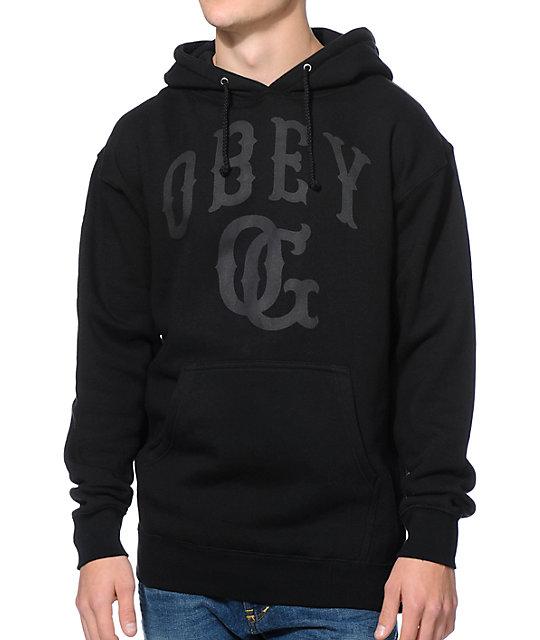 obey cooperstown black pullover hoodie. Black Bedroom Furniture Sets. Home Design Ideas
