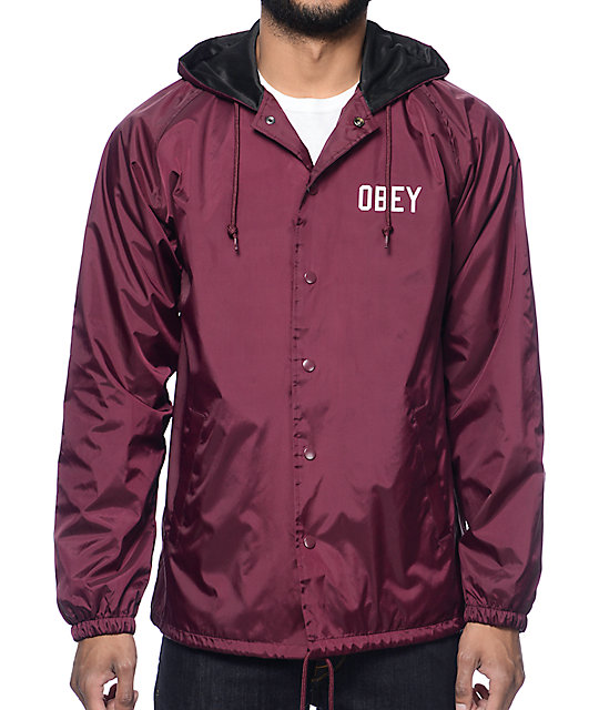 Obey Windbreaker Jackets - Coat Nj