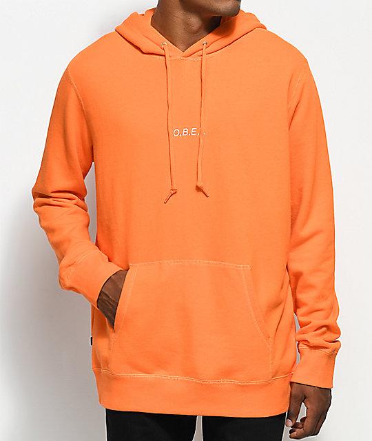 Obey Corsaire Orange Pullover Hoodie | Zumiez