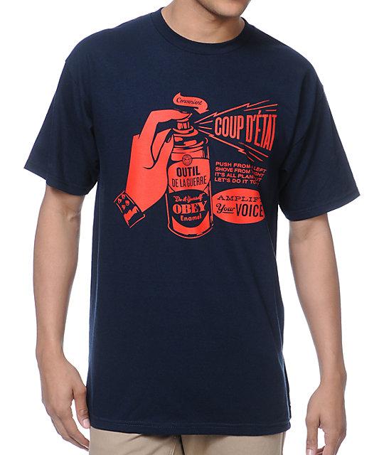 Obey Coup DEtat Navy T-Shirt