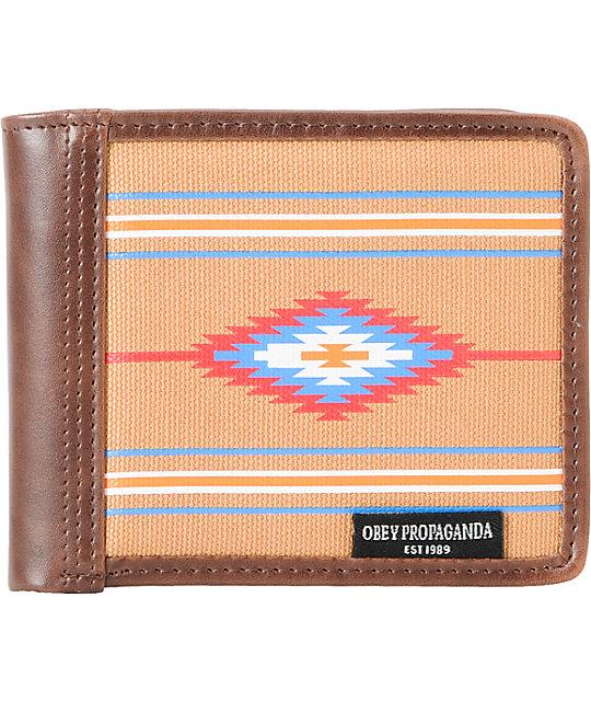 Obey Craftwork Blanket Bifold Wallet