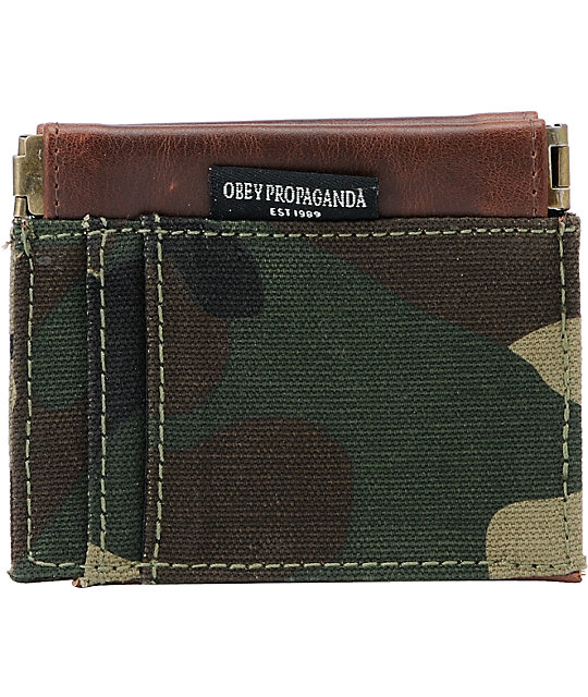 Obey Craftwork Brown Camo ID Wallet