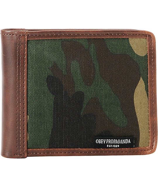 Obey Craftwork Camo Bifold Wallet