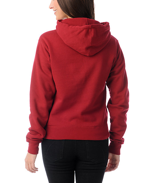 Obey Cruise Liner Garnet Red Pullover Hoodie