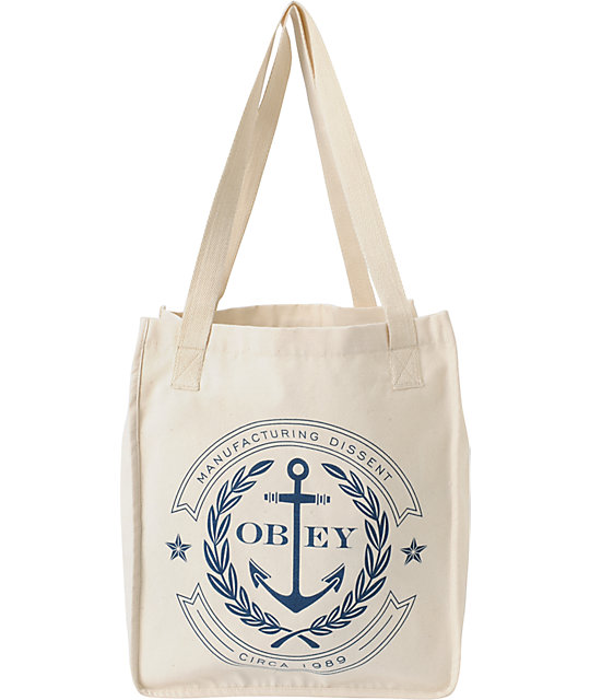 Obey Cruise Liner Natural Tote Bag