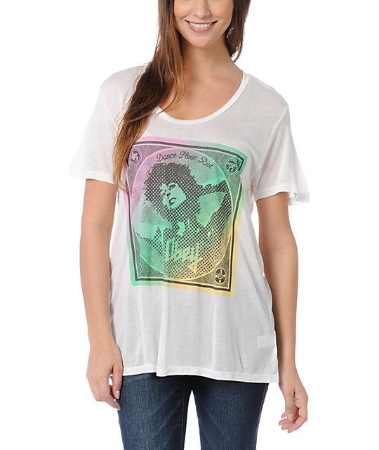 Obey Dance Floor Riot White Beau T-Shirt