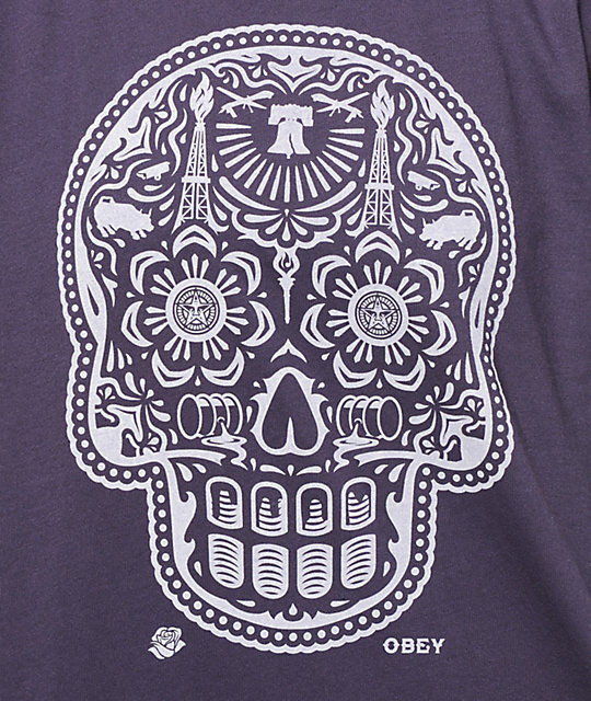 Obey Day Of The Dead Night Shade T-Shirt