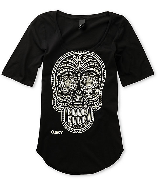 Obey Day of the Dead Black Dance T-Shirt