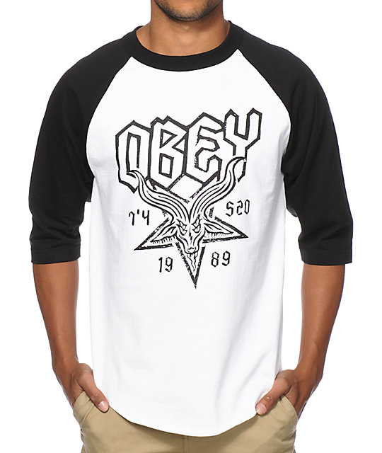 Obey Demon Goat Baseball T-Shirt