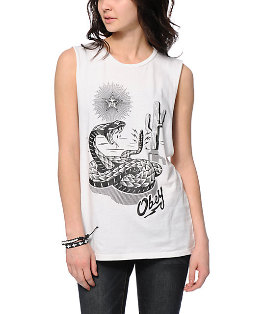 Obey Desert Snake Muscle Tank Top