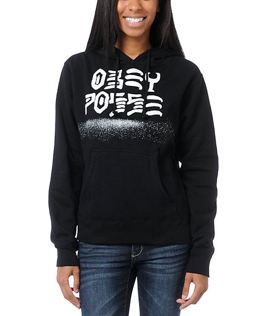 Obey Destroy Stencil Black Pullover Hoodie