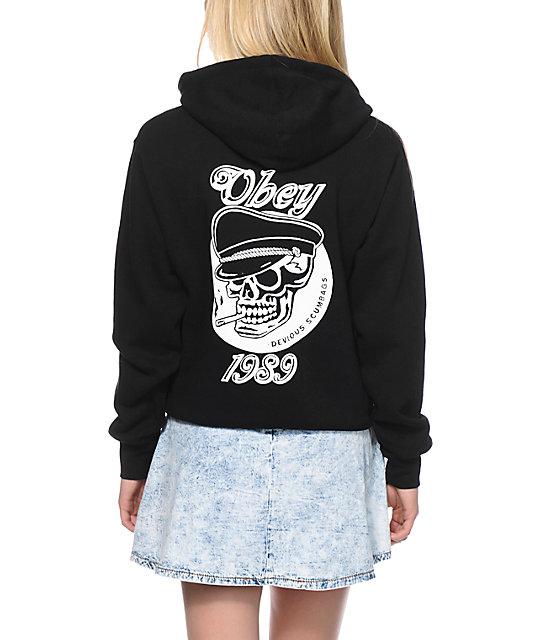 Obey Devious Scumbag Black Hoodie