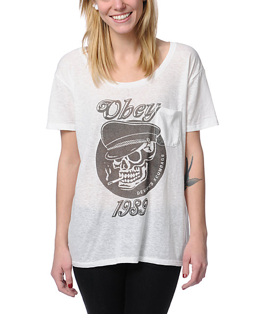 Obey Devious Scumbags Natural Throwback T-Shirt
