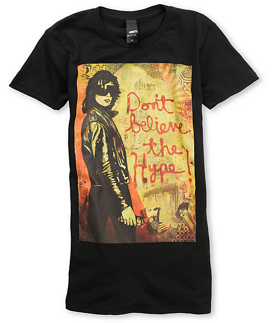 Obey Dont Believe The Hype Classic Black T-Shirt